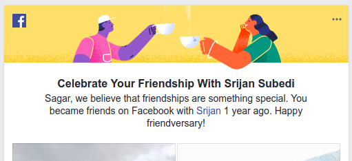 Share Friendversary Memory in Facebook.