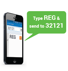 Type REG and send to 32121 image -- Create eSewa account using mobile