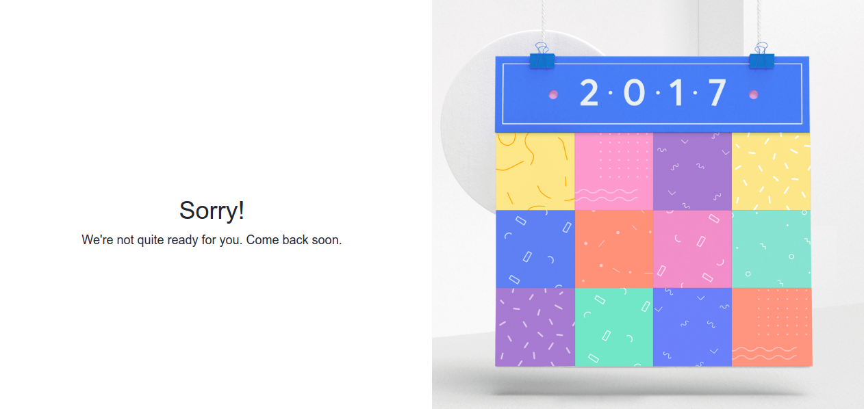 Sorry! We're not quite ready for you. Come back soon. -- Facebook Year in Review Does not Work