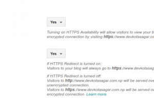 Turn on HTTPS redirect image -- How to Enable HTTPS in Custom Domain?