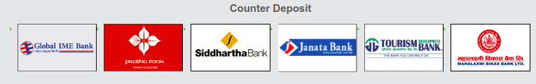 Image of banks with counter Deposit -- Load Fund using Counter Deposit
