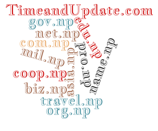 Image of Allowed .np Domain Registration in Nepal text cloud