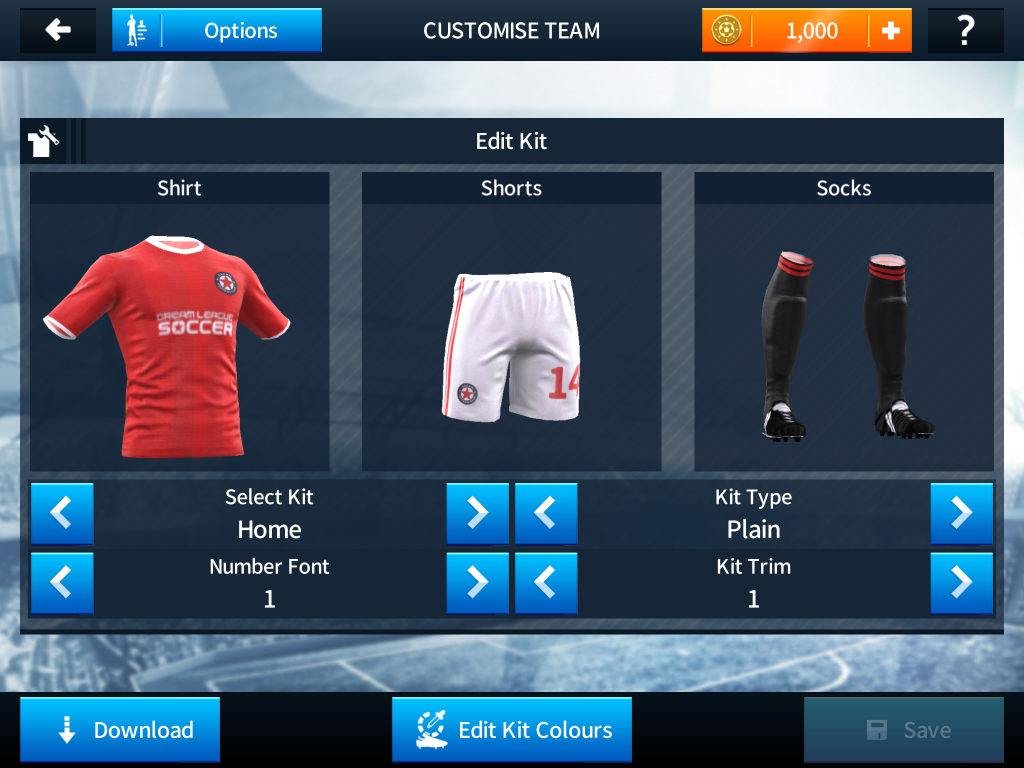 Dream league kit setting